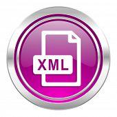 xml file violet icon