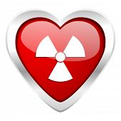 radiation valentine icon atom sign