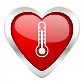 thermometer valentine icon temperature sign