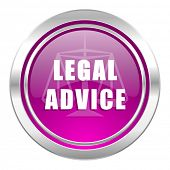 legal advice violet icon law sign