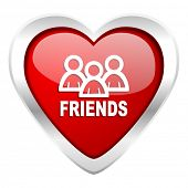 friends valentine icon