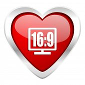 16 9 display valentine icon