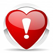 exclamation sign valentine icon warning sign