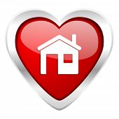 house valentine icon home sign