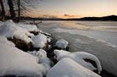 Frozen Hauser Lake.