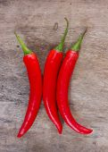 Hot red chili or chilli peppers.