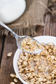 Puffed Wheat With Milk