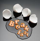 Broken egg and yolk