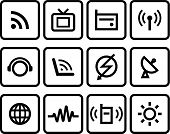 Media & Communications Vector Icons set