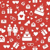 Seamless pattern for wedding or Valentine's Day design