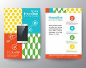 Graphic Design Layout With Smart Phone Concept Template For Flyer Brochure Leaflet Poster