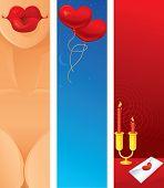 Romantic Vertical Web Banner