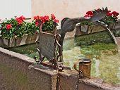 Fountain, Castelrotto (kastelruth), Italy