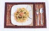 Japanese Style Spicy Cod Roe Spaghetti