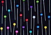 Multicolored Pins Background