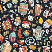 Dessert seamless pattern