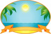 picture of tropical island  - Vector illustration isolated on white background  - JPG
