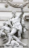 VIENNA, AUSTRIA - DECEMBER 10: Hercules statue at the Royal Palace Hofburg, Vienna, Austria on December 10, 2011.