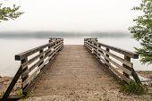 Pier on Bohinj lake, Slovenia