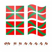 Basque Country Flags Eps 10