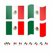 Mexico Flags Eps 10