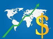 Global Economy Growth Dollar