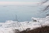 Ice on Shore of Lake