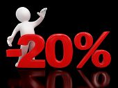 Man and Percent (clipping path included)