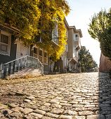 small street with historic houses in the Sultanahmet