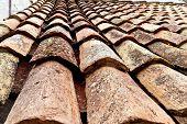 the city of dubrovnik in croatia. unesco world heritage site. old roof tiles