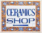 Elegant Ceramics Shop Sign