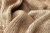 stock photo of lurex  - Knitwear beige texture - JPG