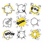 picture of explosion  - Cartoon comic explosion - JPG