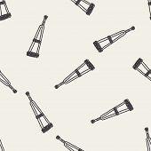 image of crutch  - Doodle Crutch - JPG