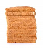 picture of whole-wheat  - whole wheat Bread isolated on the white background - JPG