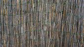 stock photo of bamboo  - Bamboo wall fence horizontal nature tropical vernecular - JPG