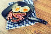 stock photo of egg  - Ham and Egg - JPG