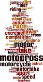 pic of motocross  - Motocross word cloud concept - JPG