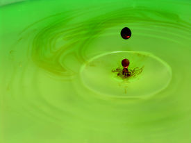 pic of crown green bowls  - drop of iodine in a green plastic water bowl - JPG