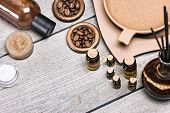 Постер, плакат: Spa And Aromatherapy Cosmetics And Accessories