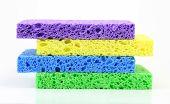 Colorful Sponge Stack