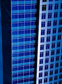 Buildings of the future in blue