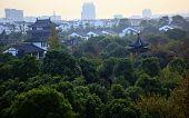 Pan Men Water Gate Ancient Chinese Pavilion Pagoda Garden Apartments Suzhou China