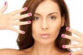 Lovely Woman With Polished Nails poster