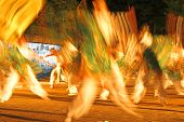 Night Japanese Dance-Motion Blur Abstract