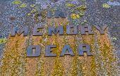 World War I Memolial Stone In Memory Dear