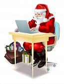 Santa Shops On-line!