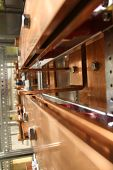 picture of busbar  - copper busbar bolts and screws with perspective view - JPG