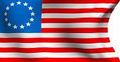 image of betsy ross  - Betsy Ross flag against white background - JPG