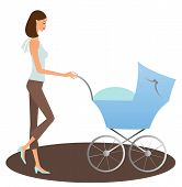 Mother with a buggy